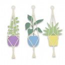 663321 - Sizzix Thinlits Die Set 4PK - Hanging Planter by Olivia Rose